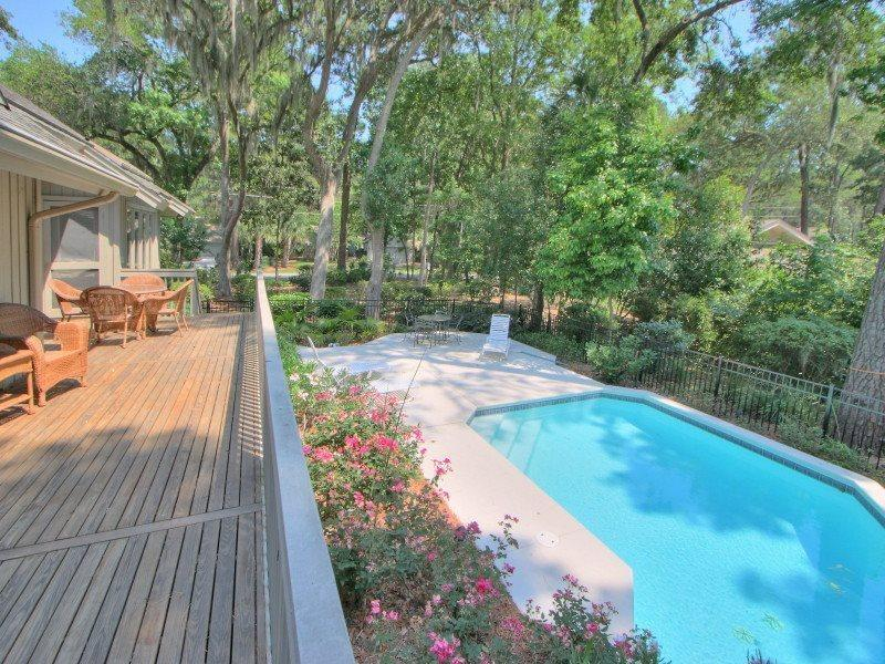 Deck and Pool at 6 Jessamine Place - 6 Jessamine Place - Sea Pines - rentals