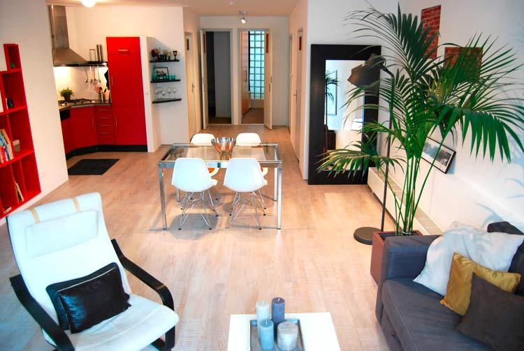 over view of the living and dining room - Enzo Apartment - Amsterdam - rentals