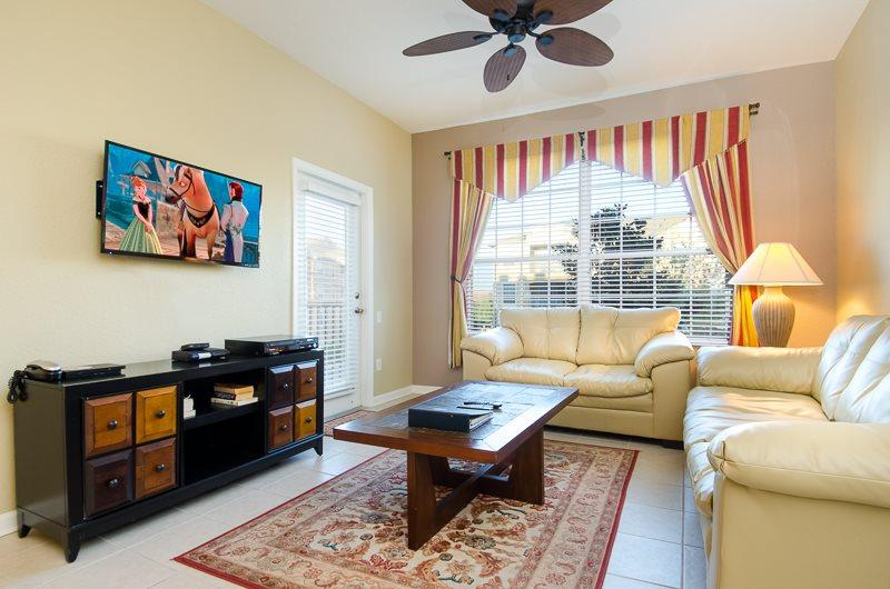Enjoy your open living area where your family can sit and watch movies - Windsor Wonder 3 Bed Condo | Windsor Hills Resort - Kissimmee - rentals