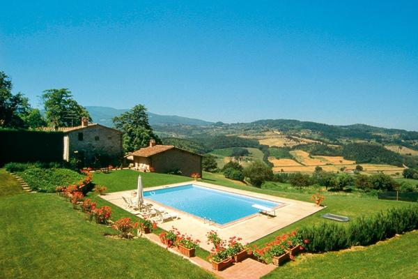 Modest and charming, with a large swimming pool, this restored 13th century villa is located close to Florence HII FRA - Image 1 - Florence - rentals