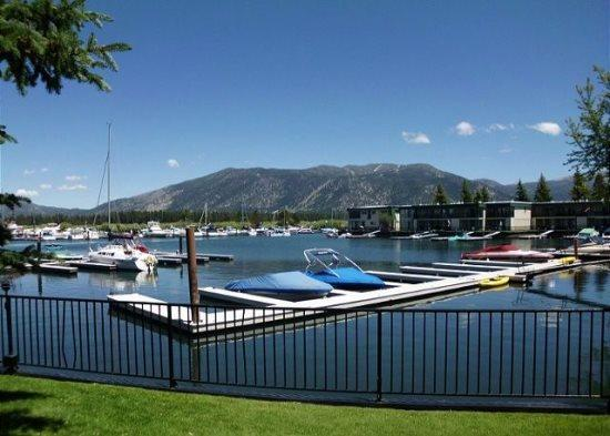 Tahoe Keys beach right out the front door! Unit has boat slip, great mountain views - Image 1 - South Lake Tahoe - rentals