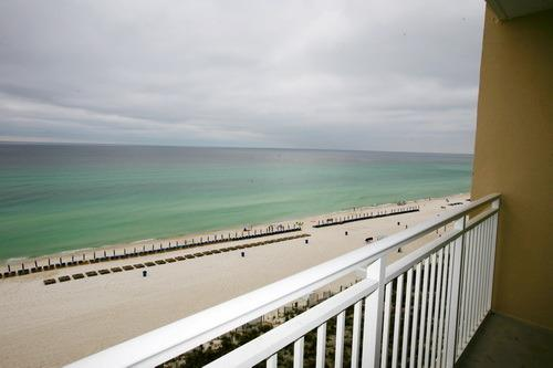 Beautiful Ocean Front Balcony. - Elegant Beachfront Condo Emerald Beach Resort - Panama City Beach - rentals