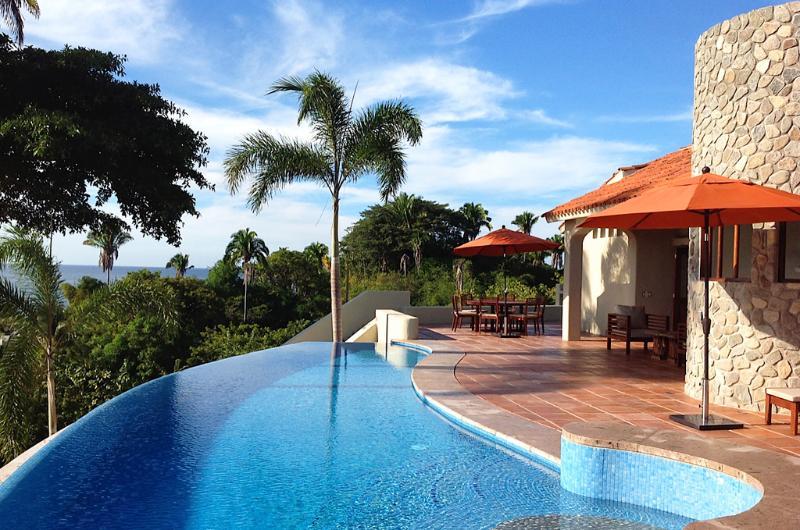 Pool terrace - Casa las Piedras - Ocean view! - San Pancho - San Pancho - rentals