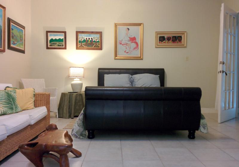 Studio bedroom includes a sofa, cable tv, wifi, ac, and private verandah - 1 Bedroom Suite - Chester Avenue Bed & Breakfast - Kingston - rentals