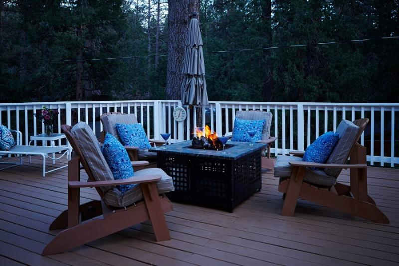 Large Deck with Fireplace - Shea-D Pines in Idyllwild - Idyllwild - rentals