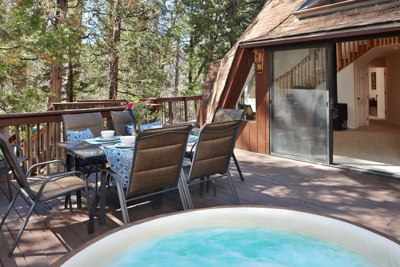 Spacious Deck with Spa - The Dome II with Spa in Beautiful Idyllwild - Idyllwild - rentals