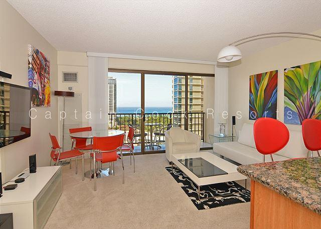 Ocean and sunset views from this modern, high floor 1-bedroom condo! - Image 1 - Waikiki - rentals