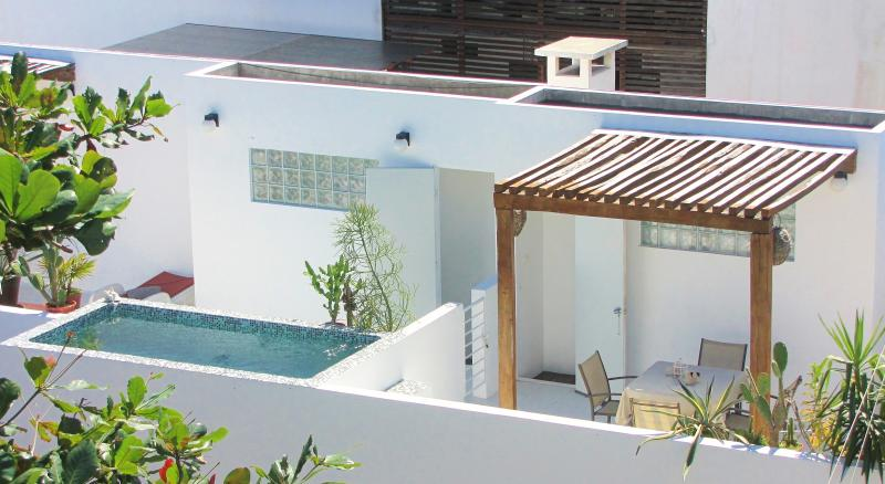 Terrace with pergola and relaxing pool - CASA NAAJ 3, Dreaming Apartment (2-4 people) - Playa del Carmen - rentals