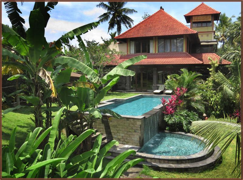 The main house from the roof of the annex - Huge Secluded Luxury Villa Minutes from Ubud - Ubud - rentals