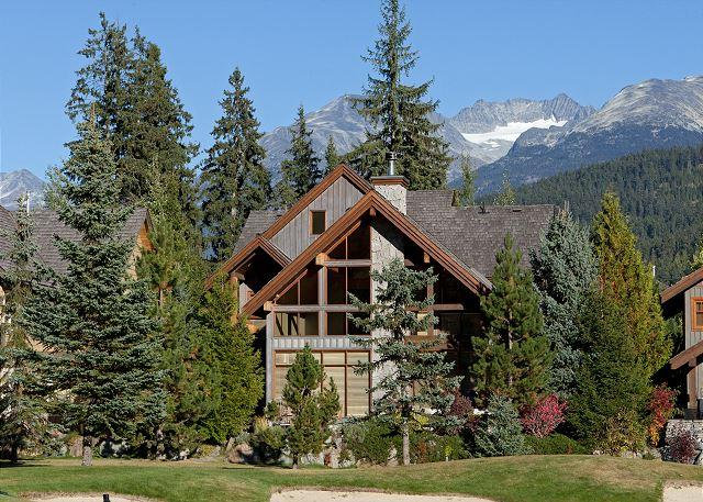 Exterior View of Property from the Golf Course - Longstone Chalet | Spacious 5 Bedroom, Wood-Burnig Fireplace, Private Hot Tub - Whistler - rentals