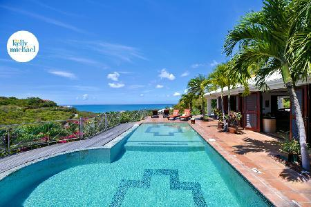 Azur Reve - Spacious, luxurious villa with view over the pool, sea & island of Anguilla - Image 1 - Terres Basses - rentals