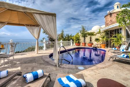 Multi-level Casa Aventura with private ocean view terraces, heated pool, cook twice daily - Image 1 - Puerto Vallarta - rentals
