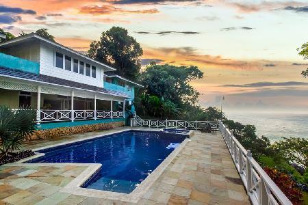 Sea View Kai Kala Villa - Salt Water Pool, Gardens, Trees, Koi - Image 1 - Ocho Rios - rentals