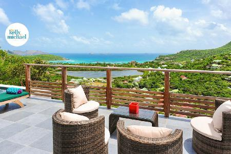 Brand new Villa Adamas with amazing ocean views and terrace with pool - Image 1 - Saint Jean - rentals