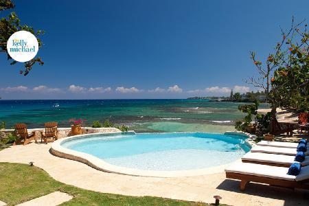 Secluded treasure, Hidden Bay Villa with pool, hot tub, cliffside patio & full friendly staff - Image 1 - Runaway Bay - rentals