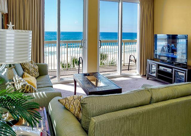 GREAT VIEWS AND A BIT SCREEN TV - Large Corner Unit with Beautiful Views, Open Week of 4/11 - Panama City Beach - rentals