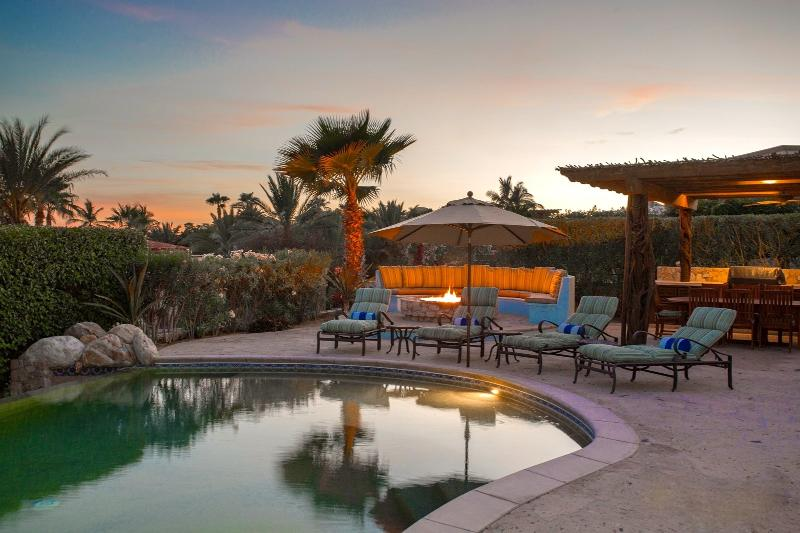 Pool & Fire Pit view from Master Suite #2 - Fantastic Custom 5 Bedroom Villa, 5 Bathrooms! - Cabo San Lucas - rentals