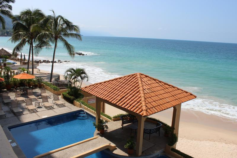 Balcony View Looking South in the Morning - Luxury Beachfront Condo with 2 King Suites - Puerto Vallarta - rentals