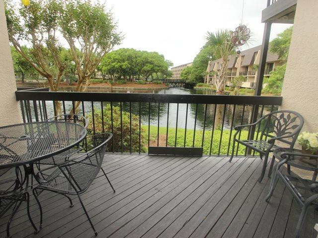 View from balcony to lagoon - Island Club, 129 - Hilton Head - rentals