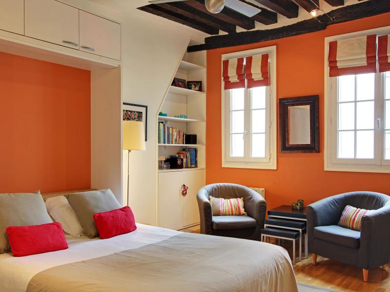 Dauphine living and sleeping area - Nice Studio in the Heart of St. Germain - Paris - rentals