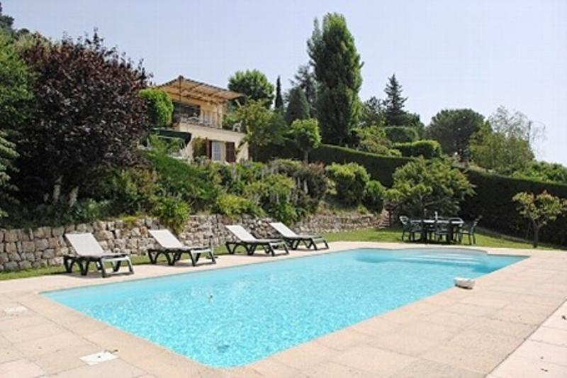 Private pool, 9 metres in length by 4.5 metres in width - Sea View of Cote D'Azur, Superb Pet-Friendly Villa with Private Pool - Saint-Jeannet - rentals