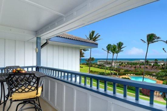 lanai - Free Car* with Poipu Sands 222 --OCEAN VIEW, renovated 2bd/2bath - Poipu - rentals