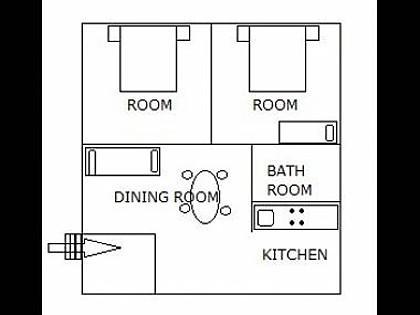 H(5+1): floor plan - 4564 H(5+1) - Turanj - Turanj - rentals