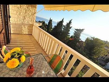 SA5(2+1): view - 3185  SA5(2+1) - Omis - Central Dalmatia - rentals
