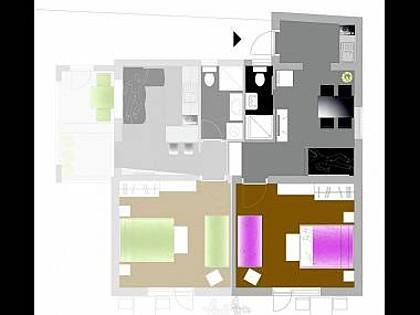 Lavanda(3+2): floor plan - 5118  Lavanda(3+2) - Primosten - Primosten - rentals