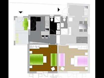 Ruzmarin(3+2): floor plan - 5118  Ruzmarin(3+2) - Primosten - Primosten - rentals