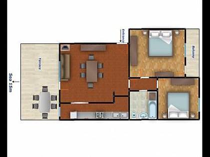 A2(4+1): floor plan - 5440  A2(4+1) - Slatine - Slatine - rentals