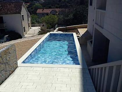swimming pool (house and surroundings) - 5464  H(6+1) - Sutivan - Sutivan - rentals