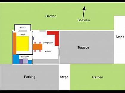 H(2+2): floor plan - 5561 H(2+2) - Cavtat - Cavtat - rentals