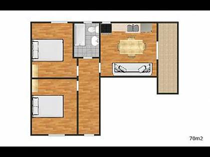 A3(4+1): floor plan - 0212OKRG  A3(4+1) - Okrug Gornji - Okrug Gornji - rentals