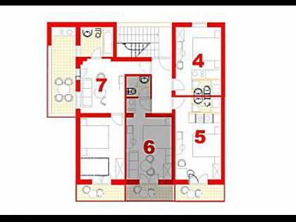 SA6(2+2): floor plan - 6064 SA6(2+2) - Makarska - Makarska - rentals