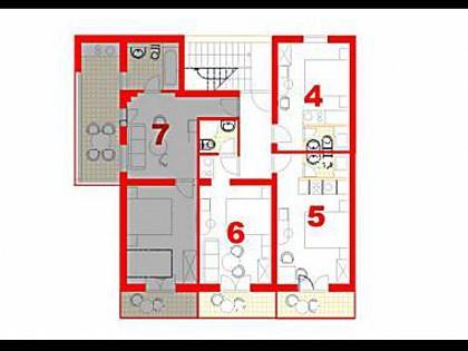 A7(3+2): floor plan - 6064 A7(3+2) - Makarska - Makarska - rentals