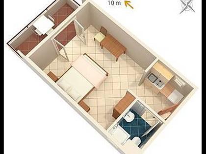 SA1(2+1): floor plan - 7922 SA1(2+1) - Cove Pokrivenik - Croatia - rentals