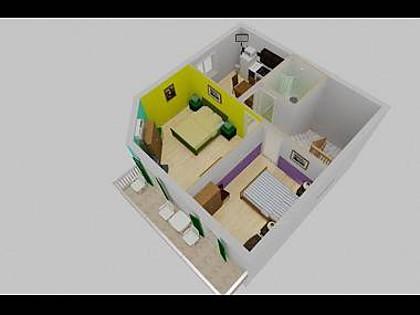 A1(4+1): floor plan - 8177  A1(4+1) - Igrane - Igrane - rentals