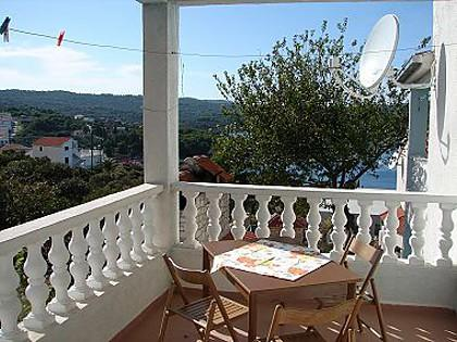 A3(2+2): covered terrace - 00101NECU A3(2+2) - Necujam - Necujam - rentals