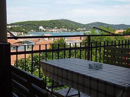 Lara (4+1): terrace view - 004A10TISN  Lara (4+1) - Tisno - Tisno - rentals