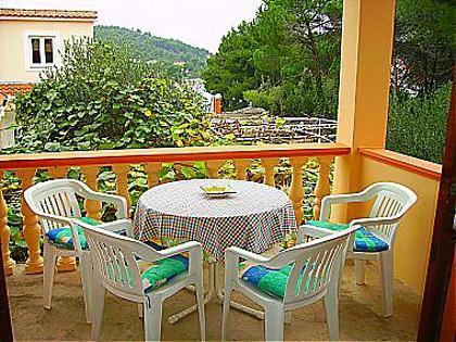 A2(2+2): covered terrace - 00319KUKLJ A2(2+2) - Kukljica - Kukljica - rentals