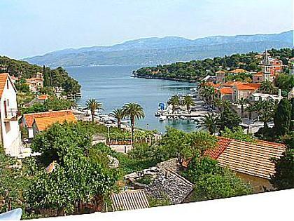 A3(4+1): balcony view - 01001SPL A3(4+1) - Splitska - Splitska - rentals