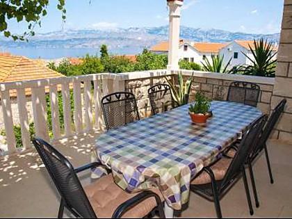 A1(6): terrace - A01501POST A1(6) - Postira - Postira - rentals