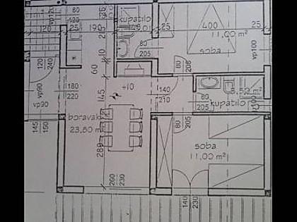 A1 Zuti(4): floor plan - 06503HVAR A1 Zuti(4) - Hvar - Hvar - rentals