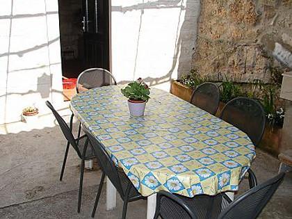 A1(4+1): garden terrace - 002POST  A1(4+1) - Postira - Postira - rentals