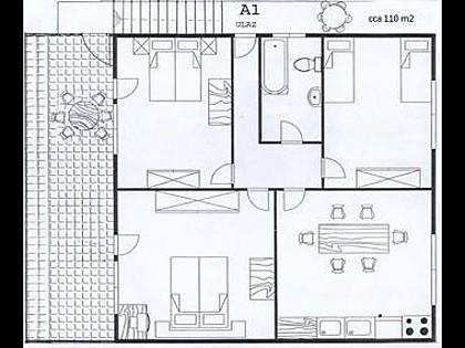 A1(6+2): floor plan - 01106ROGO A1(6+2) - Cove Kanica (Rogoznica) - Cove Kanica (Rogoznica) - rentals