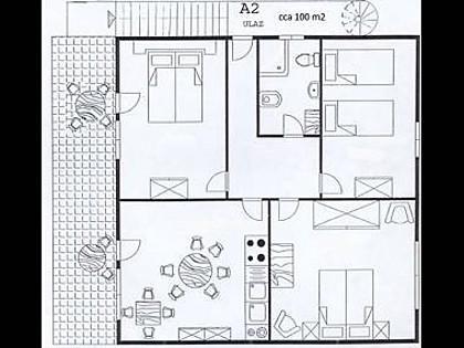 A2(6+2): floor plan - 01106ROGO A2(6+2) - Cove Kanica (Rogoznica) - Cove Kanica (Rogoznica) - rentals