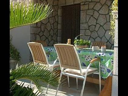 A2(4): garden terrace - 007POST A2(4) - Postira - Postira - rentals