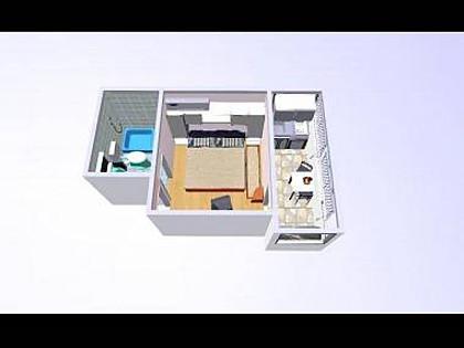 SA1(2): floor plan - 02017OREB SA1(2) - Orebic - Orebic - rentals