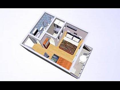 SA2(2+1): floor plan - 02017OREB SA2(2+1) - Orebic - Orebic - rentals